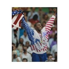 Magic Johnson Autographed US Olympics 16x20 Photo - PSA/DNA