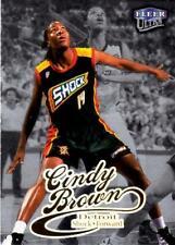 Wnba 1999 Basketball Cindy Brown Fleer Foil Platinum Medallion #51 Detriot Shock
