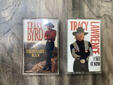 Tracy Byrd Tracy Lawrence vintage cassettes Country Music Lot Of 2