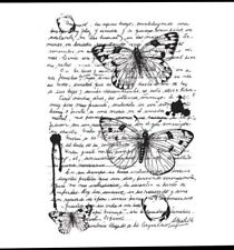 Mosaic Butterflys FRS633 Woodware Clear Singles Rubber Stamp