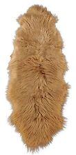 Öko Lammfell Teppich Fell-Teppich Bettvorleger Camel ca. 200 x 70 cm braun