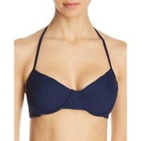 Shoshanna Womens Underwire Halter Bikini Swim Top Separates BHFO 4454