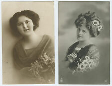 France to Salt Lake City Utah 1912 Stamp - 2 Lovely Ladies - Real Photo Rppc