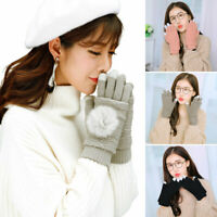 LADIES WOMEN CABLE KNIT Touch SCREEN GLOVES SOFT WARM WINTER WOOL BLEND MITTENS.