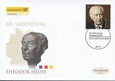 BRD 2009 Deutsche Post FDC MiNr. 2714   125. Geburtstag von Theodor Heuss