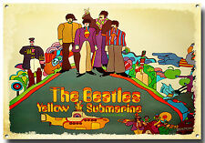 THE BEATLES YELLOW SUBMARINE METAL SIGN,JOHN LENNON,PENNY LANE,RETRO,LIVERPOOL