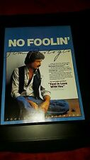 Jim Photoglo Fool In Love With You Rare Original Promo Poster Ad Framed!