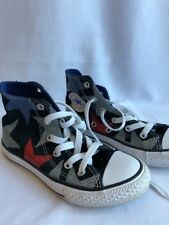 CONVERSE All Stars EUC Sz 13 Gray Black Red Blue Shoes High Tops