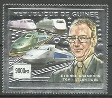 Guinee High Speed Trains TGV Atlantique Zuge Eisenbahn ** 2002 Argent Silver