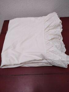 Vintage UTICA J P Stevens King Flat Sheet Lace Trim Cream EUC