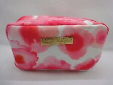 CRABTREE & EVELYN - PINK AND WHITE FLORALCOSMETIC BAG - NEW