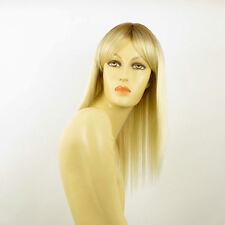Perruque femme mi-longue méchée blond racine blond foncé LAURY YS