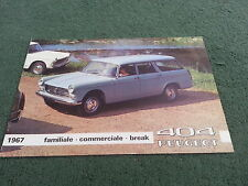 PEUGEOT 404 FAMILIALE COMMERCIALE BREAK BROCHURE 1967 FRENCH Station Wagon