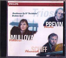 MULLOVA PREVIN SCHIFF BEETHOVEN Archduke Trio BRAHMS CD Viktoria Andre Heinrich