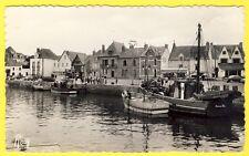 cpsm RARE 44 - LE CROISIC (Loire Atlantique) PORT Place Lénigot Bateaux de Pêche