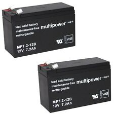 2x 12V 7,2Ah BLEI GEL AKKU Bleigel 7,2 Accu 7Ah Accu MP Lead Acid Battery Acku