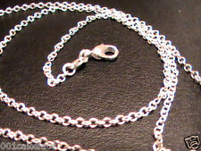 "925 SILVER 24"" PLAIN FINE 1.2mm ""O"" DAINTY CHAIN NECKLACE LOBSTER CLASP NEW"