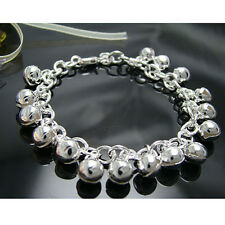 Wholesale 925 Silver Jewelry Lovely Ball Bell Baby Women Bracelet Hy056