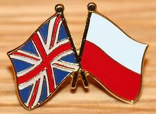 UK & POLAND FRIENDSHIP Flag Metal Lapel Pin Badge Great Britain