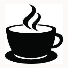 Coffee Cup Sticker Cappuccino Mug Drink Car Window Vinyl Decal Hot Caffeine S2