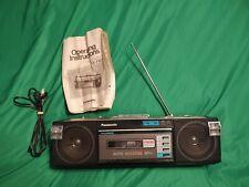 Vintage 80's Panasonic RX-FM16 Boombox Stereo Cassette Player PLEASE READ
