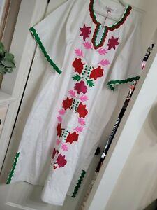 NWT Frances Valentine Floral Garland Caftan SZ 20 Retail $698.