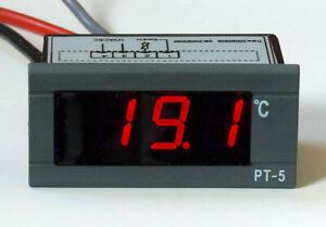 LED Thermometer digital bis +150°C 12V 24V Digitalthermometer Einbauthermometer