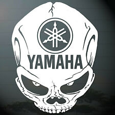"6.0""x1PC. YAMAHA SKULL HEAD STICKER CUT-OUT DECAL VINYL RACING SPORT BIKE"