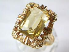 Citrine Cocktail Yellow Gold Fine Rings