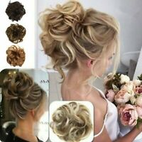 Womens Curly Messy Updo Bun Hair Pieces Hair Scrunchie Natural Hair Extensions