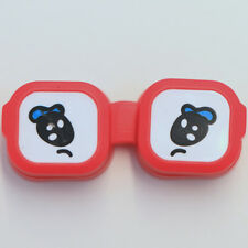 Red Cute Cartoon Eyes Travel Left & Right Contact Lens Case Holder for Traveling