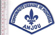 Montreal Police Department Communaute Urbaine Anjou Station Retired Patch