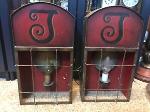 VIntage Hand Painted Theater Metal Wall Light Sconce fixtures