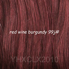 Full Head Clip in 100%real Remy Hair Extensions Black Brown Blonde Red 14-24inch