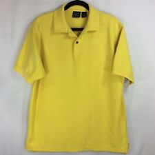 Jos A Bank Men's Golf Polo Shirt Size Large Yellow 100% Cotton Business Casual