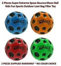 2 Super Extreme Space Bounce Moon Ball Kids Fun Outdoor Sports Loot Bag Filler
