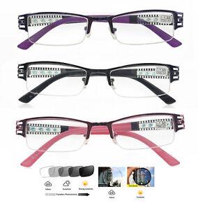 Lady Half Rim Women Metal Photochromic Nearsighted glass UV400 -0.25 -1.0 ~ 8.0