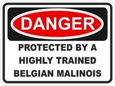 Chien race belge malinois danger autocollant animal pour pare-chocs casier porte voiture maison