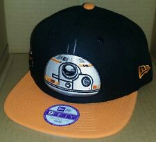 NWT NEW ERA Star Wars BB-8 YOUTH size black 9FIFTY SNAPBACK adjustable cap hat