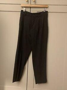 Zara Charcoal Viscose Acrylic Mix Trousers M