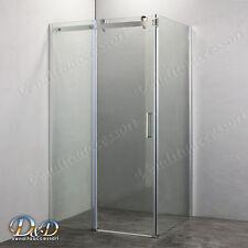 Box cabina doccia cristallo 8 mm 80X120 scorrevole con parete fissa laterale
