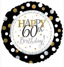 "Happy 60th Birthday 18"" Balloon Birthday Party Decorations"