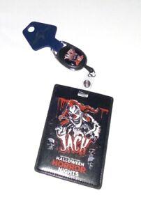 Universal Halloween Horror Nights 2021 Jack Retractable Badge Reel