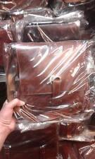 Borsello Piatto in CUOIO Tracolla verticale borsa Artigianale bag man 29x35 L5CM