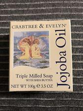 Crabtree & Evelyn JOJOBA OIL Triple Milled Soap Bar With Shea Butter 3.5 oz NIB