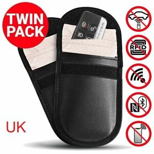 2 x RFID Blocking Faraday Bag Car Key Security Wallet/Signal Blocking Pouch - UK
