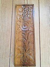 Vintage/Retro Persian hand carved Frame Flowers Leaves on Oak wood 14 x 43.5 cm
