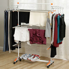 Drying Rack Clothes Laundry Folding Foldable Heavy Duty Compact Storage Portable