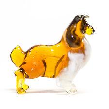 Collie Sheepdog. Figurine Glass Murano. Home Decor. Miniature Handmade. VIDEO