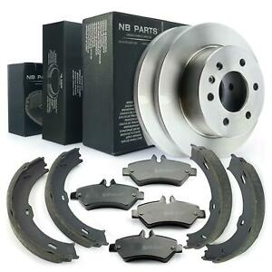 Brake Discs + Brake Pads Shoes Rear Mercedes-Benz Sprinter 3,5